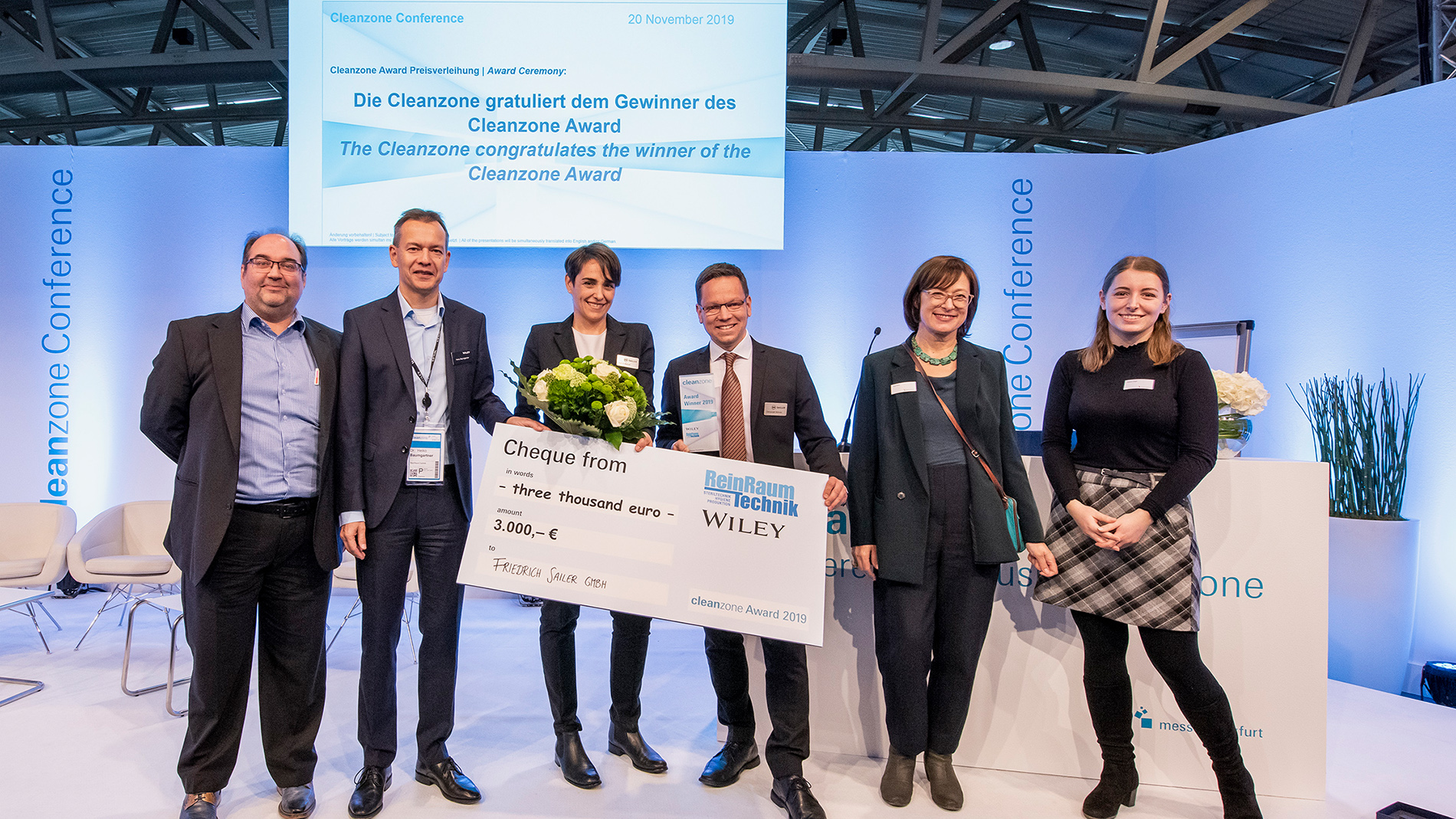 The presentation of the Cleanzone Award is always a crowd-puller. (Messe Frankfurt/Sandra Gätke)