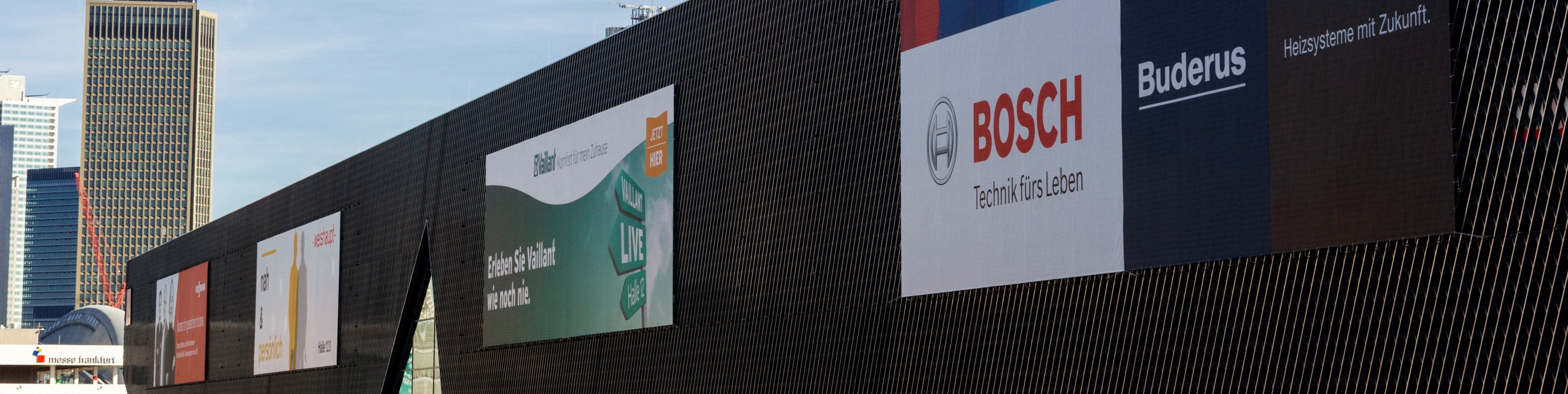 Advertising on the grounds of Messe Frankfurt
